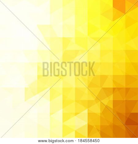 Yellow Triangle Vector Background. Can Be Used In Cover Design, Book Design, Website Background. Vec