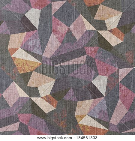 Crystal Grunge Design Modern Geometric Abstract Background