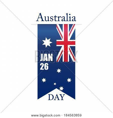 Australia day. Vector illustration. 26 January. Eps 10.