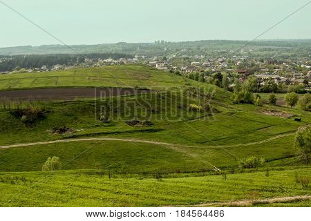 Nature hills greens sunny day landscape sky