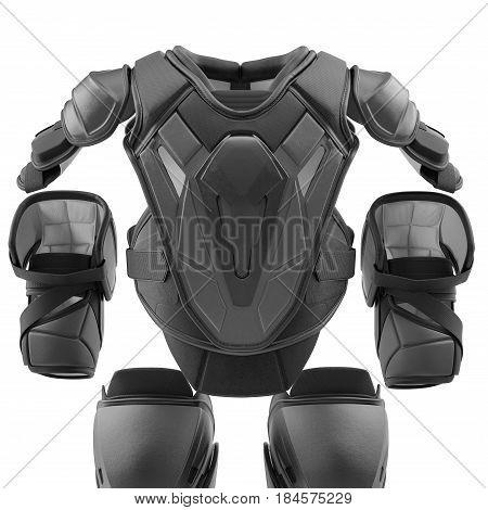 Hockey Protective Gear Kit on white background. 3D illustration
