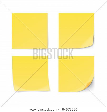 Post it note isolated on white background. Vector illustration.