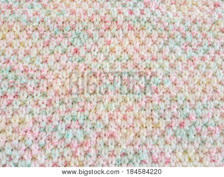 colorful of Knitting sweater, texture of Knitting sweater