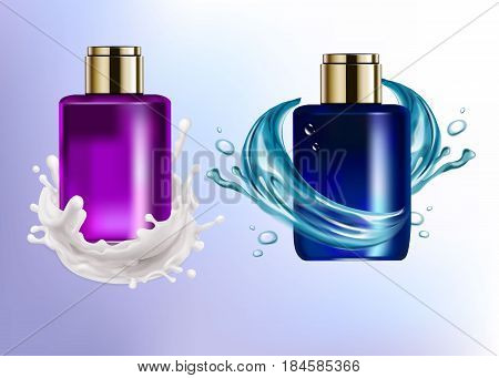 shampoo vector product beauty cream hygiene package