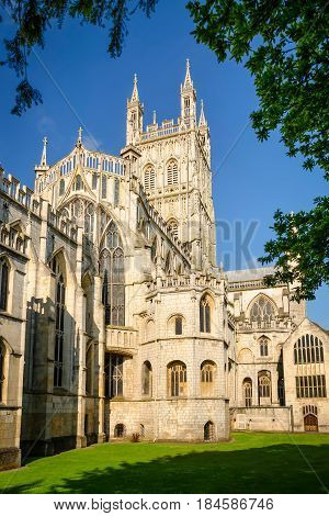 View of Gloucester Cathedral Church of St Peter and the Holy and Indivisible Trinity from East
