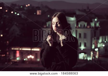 beauty and fashion youth and freshness lifestyle nightlife traveling loneliness thinking and dreaming