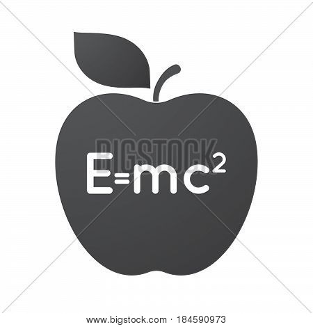 Isolated Apple Fruit With The Theory Of Relativity Formula