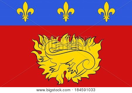 Flag of Sarlat-la-Caneda is a commune in the Dordogne department in Nouvelle-Aquitaine in southwestern France