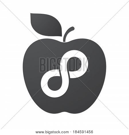 Isolated Apple Fruit With An Infinite Sign