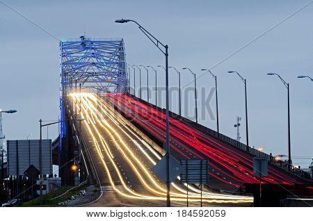 the Harbor bridge in Corpus Christi Texas