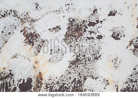 Old grunge painted wall with abrasion marks, abstract texture background