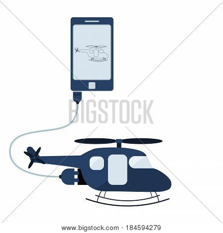 Helicopter Automation Using Cell Phone