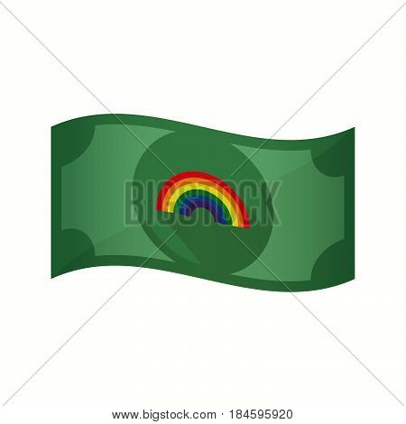 Isolated Bank Note With A Rainbow