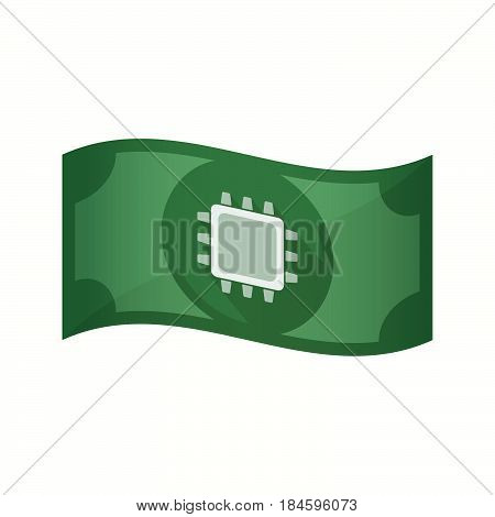 Isolated Bank Note With A Cpu