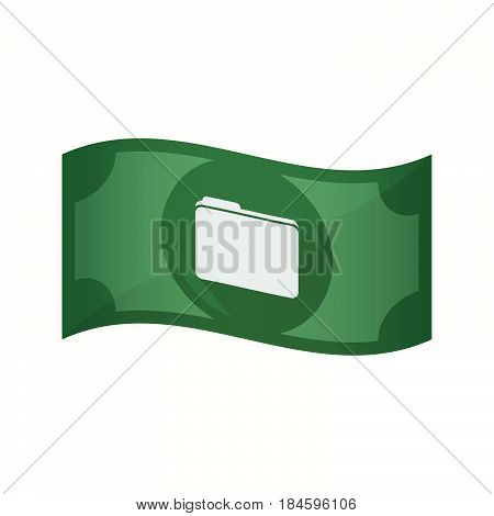 Isolated Bank Note With A Folder