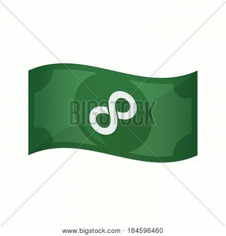 Isolated Bank Note With An Infinite Sign