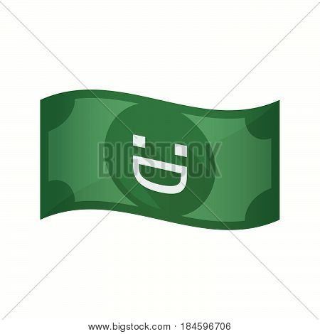 Isolated Bank Note With A Laughing Text Face