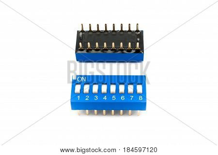 Blue 8 Channels Dip Switch/ Selector Switch