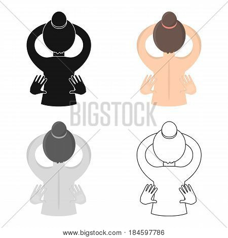 Massage icon of vector illustration for web and mobile design
