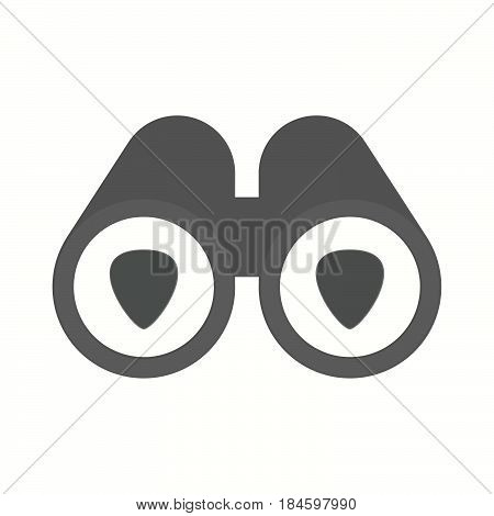 Isolated Binoculars With A Plectrum