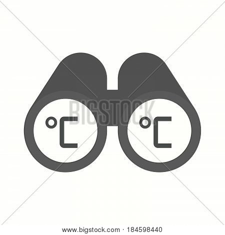 Isolated Binoculars With  A Celsius Degree Sign