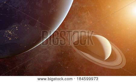 Solar System - Saturn. Science Background.