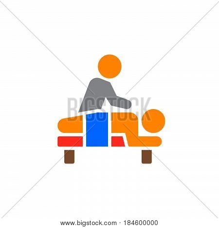Massage icon vector filled flat sign solid colorful pictogram isolated on white. Spa services symbol logo illustration