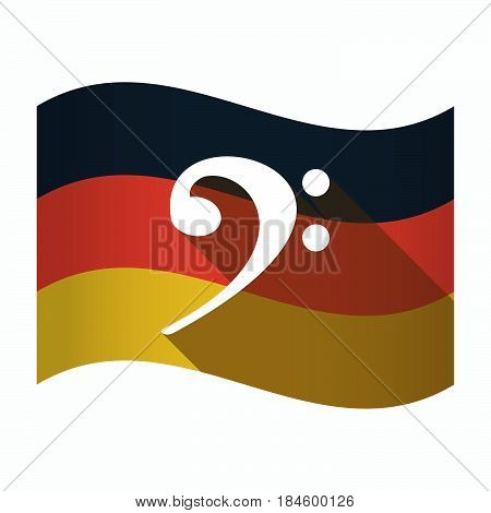 Isolated Germany Flag With An F Clef