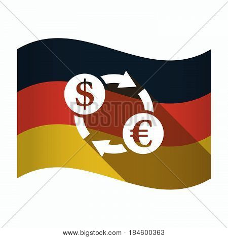 Isolated Germany Flag With A Dollar Euro Exchange Sign