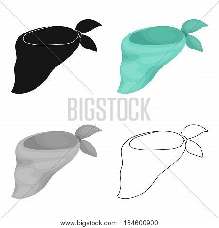 Blue bandage on the neck for beauty.Scarves and shawls single icon in cartoon style vector symbol stock web illustration.