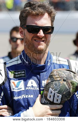April 30, 2017 - Richmond, Virginia, USA: Dale Earnhardt Jr. (88) hangs out on the grid prior to the Toyota Owners 400 at Richmond International Speedway in Richmond, Virginia.