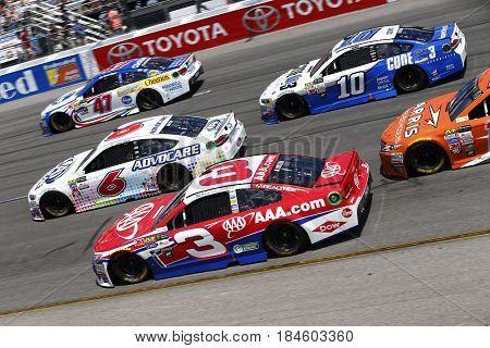 April 30, 2017 - Richmond, Virginia, USA: Austin Dillon, Trevor Bayne, A.J. Allmendinger and Danica Patrick  battle for position during the Toyota Owners 400 at Richmond International Speedway.
