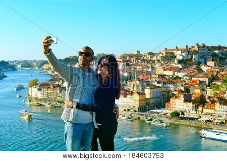 Selfie Photo In Porto, Portugal