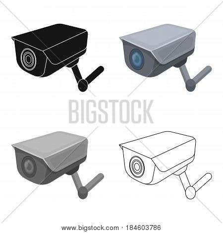 CCTV camera in the prison. The system of monitoring the jailers.Prison single icon in cartoon style vector symbol stock web illustration.