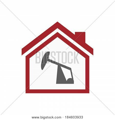 Isolated House With A Horsehead Pump