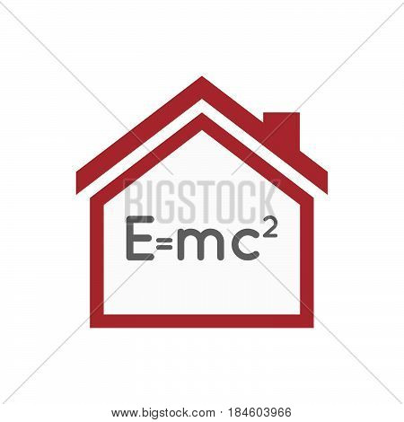 Isolated House With The Theory Of Relativity Formula