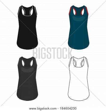 Blue Sports Women's T-shirt. sports clothes.  Woman clothes single icon in cartoon style vector symbol stock web illustration.