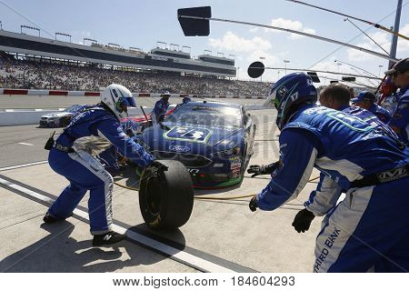 April 30, 2017 - Richmond, Virginia, USA: Ricky Stenhouse Jr. (17) brings his car down pit road for service during the Toyota Owners 400 at Richmond International Speedway in Richmond, Virginia.