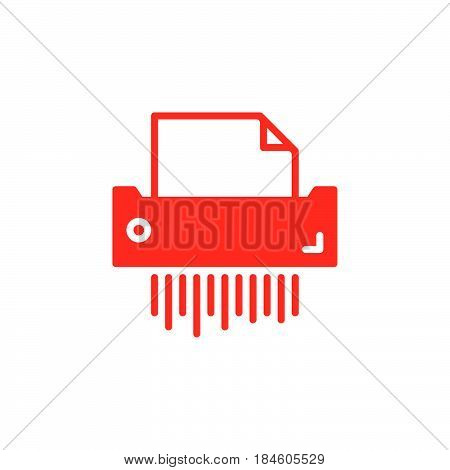 Paper shredder icon vector filled flat sign solid colorful pictogram isolated on white. Symbol logo illustration