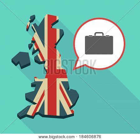 Long Shadow Uk Map With  A Briefcase