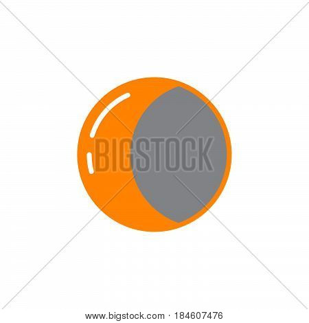 Half moon icon vector filled flat sign solid colorful pictogram isolated on white. Symbol logo illustration