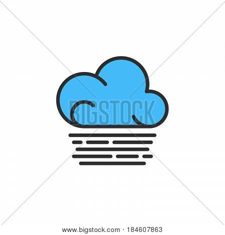 Fog cloud line icon filled outline vector sign linear colorful pictogram isolated on white. Weather forecast symbol logo illustration