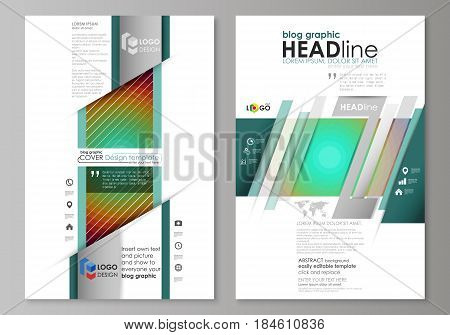 Blog graphic business templates. Page website design template, easy editable abstract vector layout. Minimalistic design with circles, diagonal lines. Geometric shapes forming beautiful retro background.
