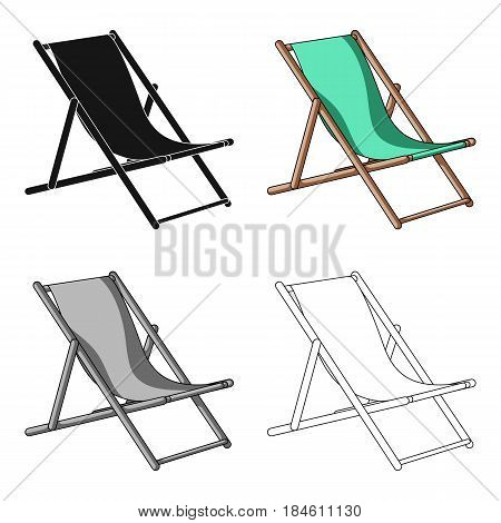 The seat for sunbathing on the beach.Summer rest single icon in cartoon style vector symbol stock web illustration.