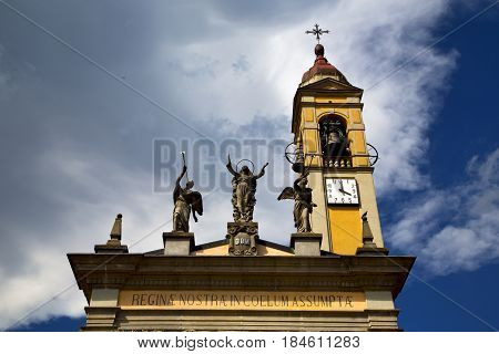In Cairate Varese Italy   The   Watch Bell Clock Tower