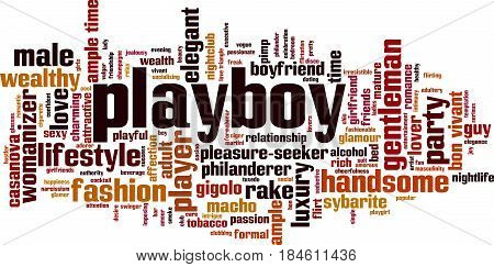 Playboy word cloud concept. Vector illustration on white