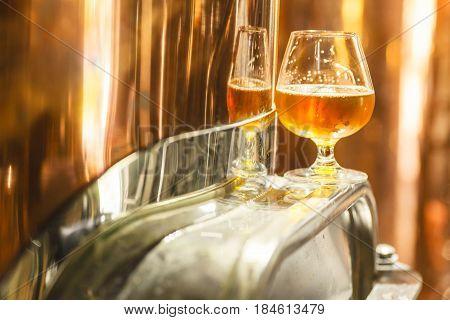 Amber Ale At A Copper Lauter Tun