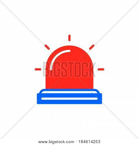 Flasher Alarm lamp icon vector filled flat sign solid colorful pictogram isolated on white. Symbol logo illustration