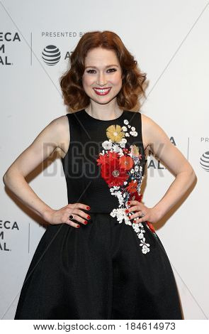 NEW YORK-APR 28: Actress Ellie Kemper attends the 'Unbreakable Kimmy Schmidt' screening at BMCC at PAC during the 2017 TriBeCa Film Festival on April 28, 2017 in New York City.