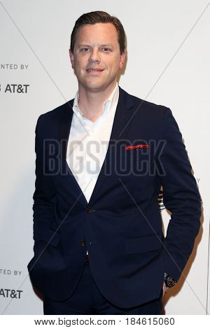 NEW YORK-APR 28: Willie Geist attends the 'Unbreakable Kimmy Schmidt' screening at BMCC at PAC during the 2017 TriBeCa Film Festival on April 28, 2017 in New York City.